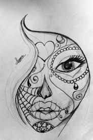 sugar skull drawing search tattoos tatting
