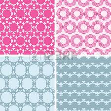 matching color schemes vector four abstract pink blue folk motives seamless patterns