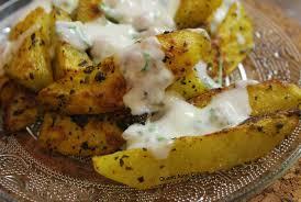 recette cuisine legere potatoes au four croustillantes et sauce blanche légère quand amal