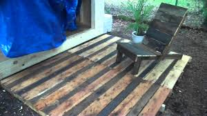 Patio Made Out Of Pallets by Pallet Wood Project A Deck And Chair Made From Free Recycled