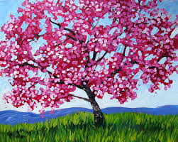 apple tree with pink blossoms iv patty baker artists a z