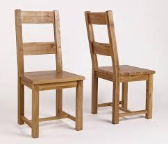 Simple Chair Rustic Oak Timber Dining Chair U2013 Pair Hampshire Furniture