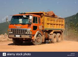 japanese manufactured hino fs66 dump truck transporting rock
