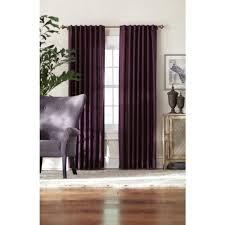 Plum Faux Silk Curtains Home Decorators Collection Semi Opaque Plum Slub Faux Silk Back