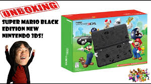 new 3ds xl black friday unboxing super mario black edition new 3ds 2016 youtube