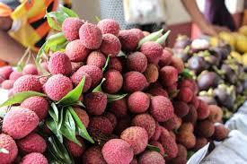 lychee fruit candy food markets in yangon myanmar