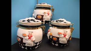bistro fat chef canister set ceramic kitchen decor nice and cute