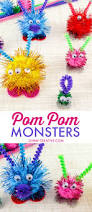 how to make pom pom monsters oh my creative