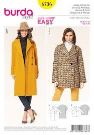 burda 6736 misses jackets and coats