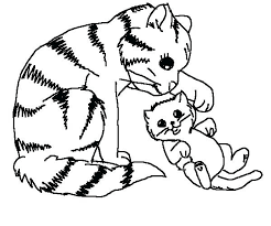 coloring page of a kitty free cat coloring pages cat coloring page fossil coloring pages cat