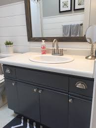 bathroom update how to paint laminate cabinets u2014 the penny drawer