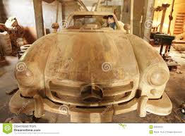mercedes car wood craft editorial photo image of transportation