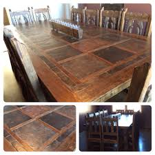 rustic custom dining room table seats slate top large ideas and 12