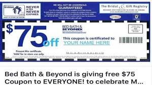 Bed Bath Beyond Credit Card No That 75 Off Coupon On Facebook To Bed Bath U0026 Beyond Isn U0027t