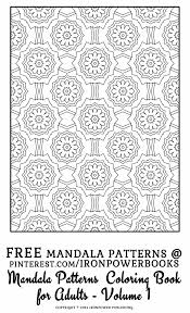 free mandala pattern coloring pages adults intricate mandala