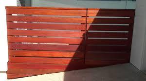 recycled hard wood horizontal slat fence and gate mp4 youtube