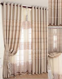 striped jacquard modern custom blackout curtains and champagne