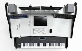 Studio Desk Rack by Music Commander Full Set Black Studio Desk Workstation Furniture