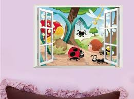 Wall Art For Kids Room by 3d Insects Family Nursery Wall Sticker Decal