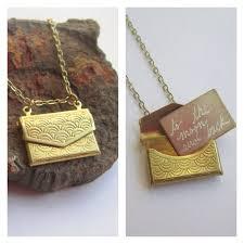 custom engraved lockets envelope locket necklace with custom engraved letter