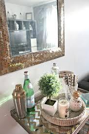 minimal bar cart decor u2013 simple bliss