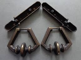 vintage kbc heavy cabinet drop pulls and backplates keeler brass