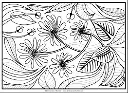 impressive abstract flower coloring pages for adults printable
