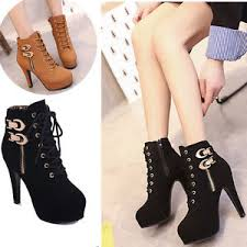 s zipper ankle boots s zipper high heels ankle boots pu leather platform buckle