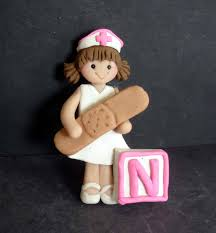 Nurse Christmas Ornament - alphabet nurse christmas ornament letter block n toddler polymer