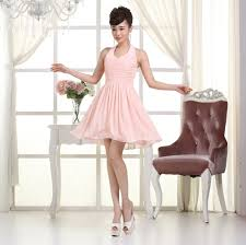 light pink halter dress light pink halter bridemaids teen elegant new arrival and