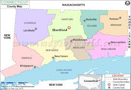 connecticut on map connecticut county map counties in connecticut