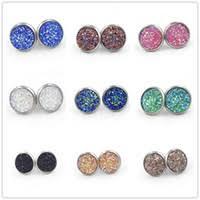 druzy stud earrings wholesale druzy stud earrings buy cheap druzy stud earrings from