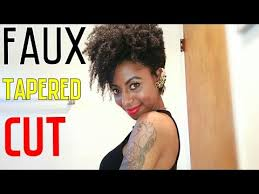 mid length tapered 4c hair faux tapered cut on 4c natural hair youtube