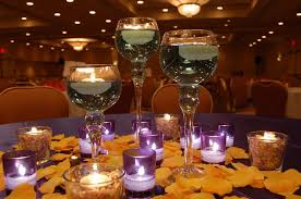 table centerpieces for wedding yellow petals for wedding centerpieces with candles with wedding