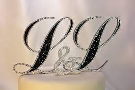 rhinestone monogram cake topper rhinestone initial wedding cake toppers food photos