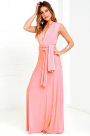 always stunning convertible blush pink maxi dress cute dresses