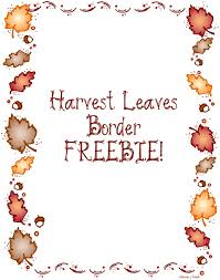 free thanksgiving borders clip library