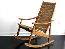 mid century modern rocking chair wood mid century modern rocking
