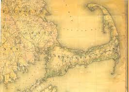 old map of cape cod 1844 by simeon borden reprint