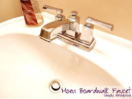 how to install a new bathroom faucet in a pedestal sink moendiyer