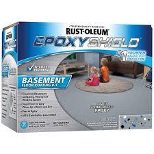 rust oleum epoxyshield 1 gal gray satin basement floor coating
