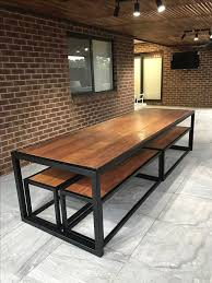 Dining Room Sets With Bench Seating by Best 25 Industrial Table Legs Ideas On Pinterest Diy Table Legs