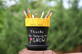 personalized teacher gift pencil holder hand painted with