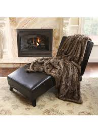 coyote faux fur thermal throw available in 58
