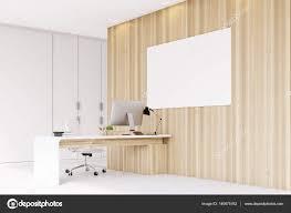 bureau du chef coin du bureau du chef de la direction mur en bois poster
