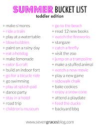 summer bucket list toddler edition seven graces