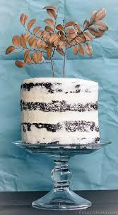 big chocolate birthday cake white frosting wintry season