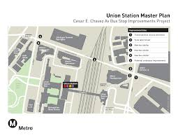 Union Station Los Angeles Map by Union Station Cesar E Chavez Av Bus Stop Improvement Project