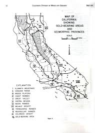 Colorado Desert Map by Geopolitical Map American California Gold Mining Districts