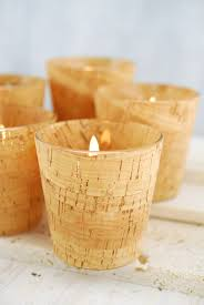 cork votive holders